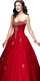 New Demurely Designed Ball Gown