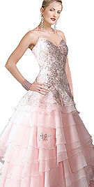 New Flared Multi Tiered Ball Gown
