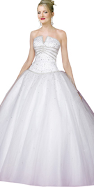 New Sumptuous Flared Ball Gown