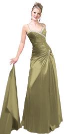 Dropped Waist A-Line Prom Dress