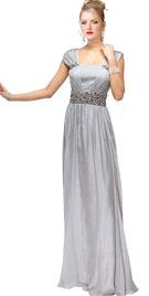Sleeveless Beaded Prom Gown | Beaded Prom Dresses