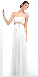 Stylish Prom Dresses | Beaded Straps Prom Gown