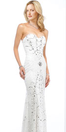 Stylish Strapless Prom Gown | Long Strapless Prom Gown