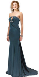 Strapless Prom Dresses | Beaded Neckline Prom Gown