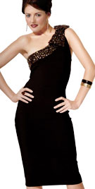 Overstated One-Shoulder Prom Dress
