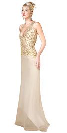Sequenced Bodice Organza Prom dress