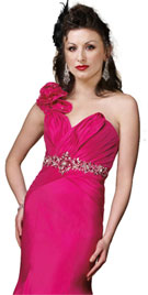 Rose Breeze Prom Gown With Ruffles