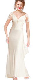 Ruched Bodice Cut out Halter Prom dress