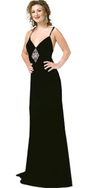 Make a seductive entrance and exit in this real eye stunner prom gown in jersey