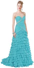 Silk chiffon strapless premium sweet heart neckline dress