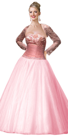 Instant charmer in organza and satin premium dress