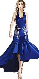 Asymmetric Satin Dress
