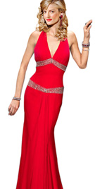 Buy Online Sexy Halter Red Carpet Gown