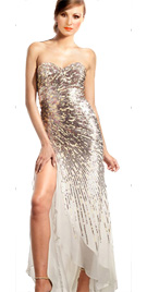 Audacious Strapless Red Carpet Dress