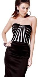 Striped Bodice Red Carpet Dress | Celebrity Dresses
