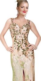 Fabulous Front Slit Floor Length Gown | Red Carpet Dresses