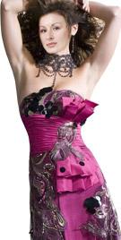 Strapless Floor Length Ruche Bodice | Red Carpet Dresses