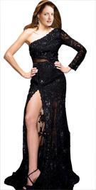 Magnificent One Shoulder Gown | Red Carpet Dresses