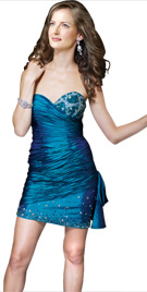 Stunning Strapless Ruche Dress | Red Carpet dresses