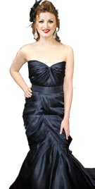 Kirsten Stewart Inspired Black Red Carpet Dress