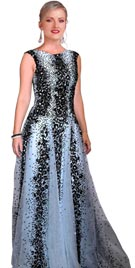 Shania Twain Style Beaded Red Carpet Gown