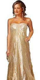 Stunning Golden Red Carpet Dress