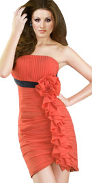 Front Ruffled Pleated Dress | Sex And City Dresses