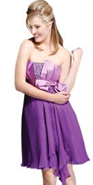Dazzling Strapless Short Summer Dress
