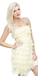 Elegant strapless summer attire