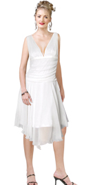 Trendy Plunging Neckline Summer Dress