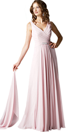Simple Spring Season Gown | Fabulous V-Neckline Spring Gown