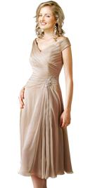 Knee Length Pleated Spring Dress   Online Spring Dresses