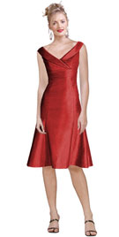 This elegant new arrival dress in raw silk is great for any holiday party!