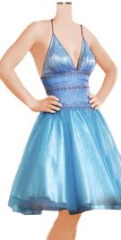 Embellished Halter String Corset Ball Dress
