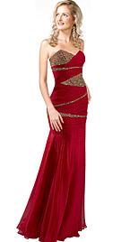 Glamorous Chiffon Evening Gown