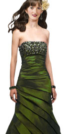 Adorable Green Shimmering Gown | St Patricks Day Outfits