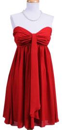 Strapless 70s Baby Doll Dress