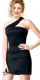 Scintillating Shutter Pleated Dress   Youth Day Celebration Party Wear